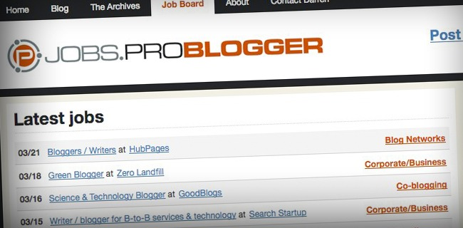 problogger jobs 14 Ways To Actually Make Money From a Website!