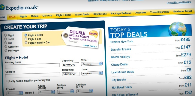 expedia1 20 Websites Making The Most Money