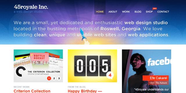 45royale Inc Blog Design
