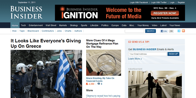 Business Insider Blog Design
