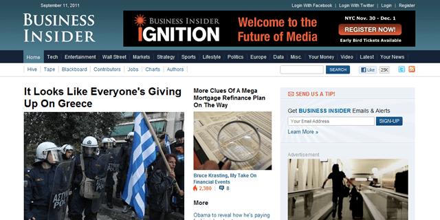 Business Insider Blog Design