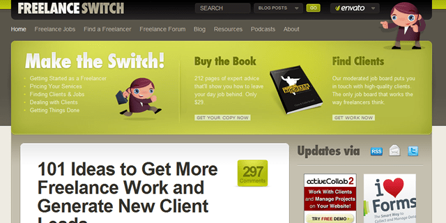 Freelance Switch Blog Design