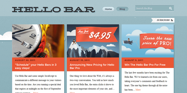 Hello Bar Blog Design
