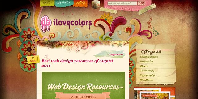 I Love Colors Blog Design
