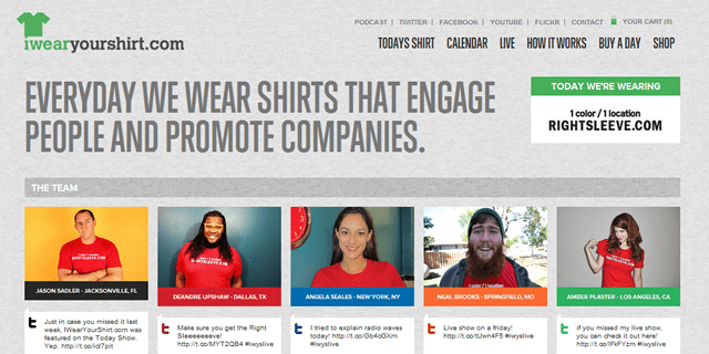 I Wear Your Shirt Blog Design