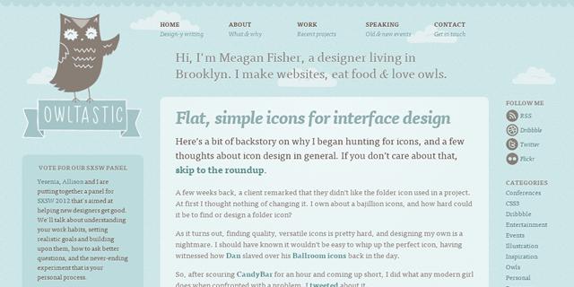 Owltastic Blog Design