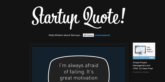 Startup Quote Blog Design
