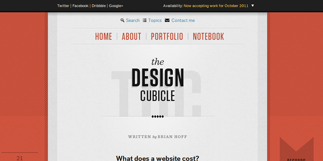 The Design Cubicle Blog Design