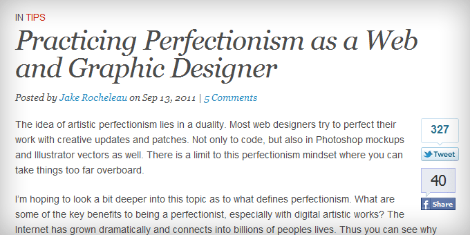 Typography Styling Web Design Ledger