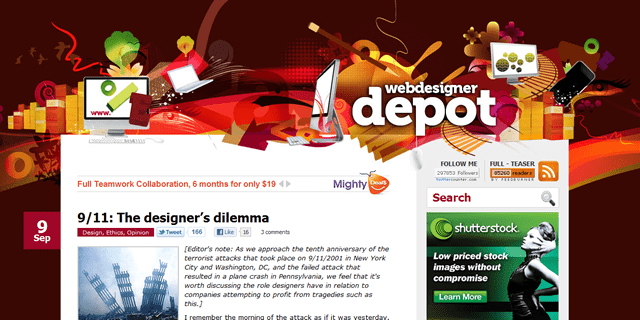 Web Designer Depot Blog Design