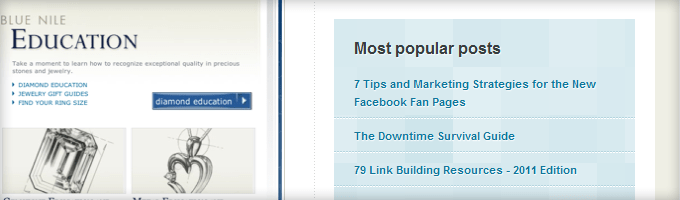 Kissmetrics Popular Posts