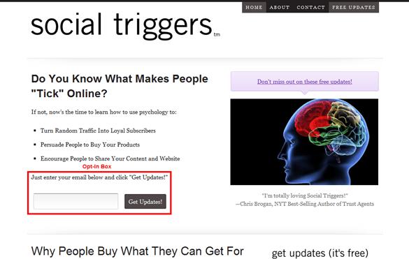 Blog Homepage Social Triggers