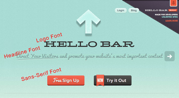 Fonts - Hello Bar