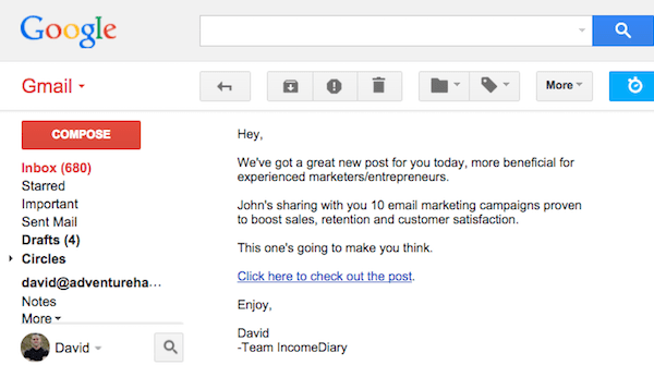 High Click Email