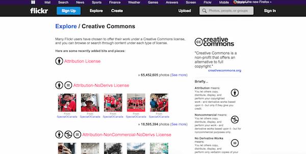 Creative Commons Flikr