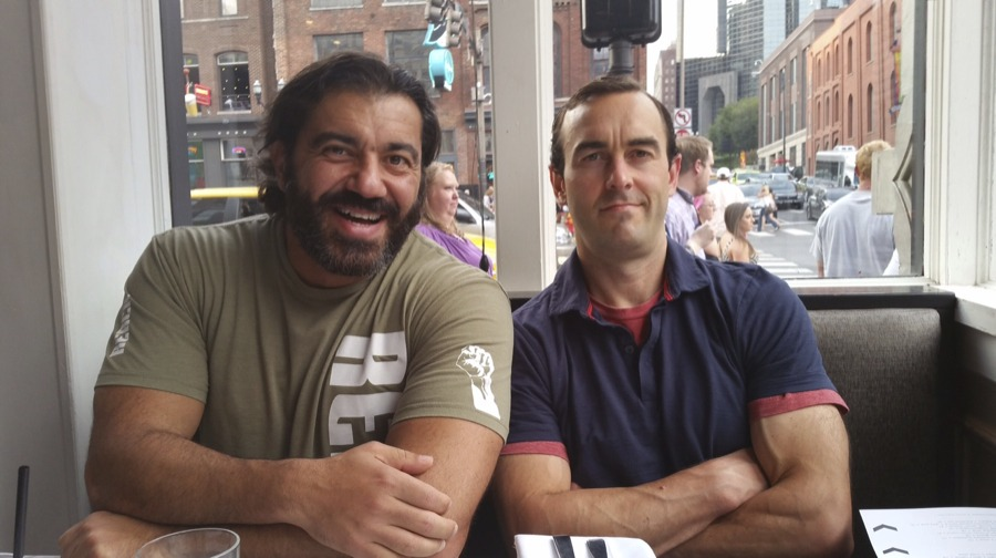Bedros Keuilian, Craig Ballantyne, and the Nashville strip in the background