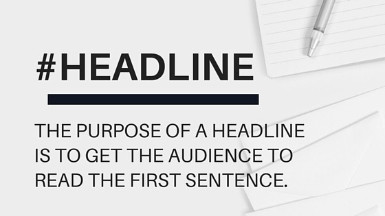blog readers are persuaded to read further by powerful headlines