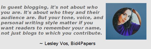 Lesley Vos Guest Blogger