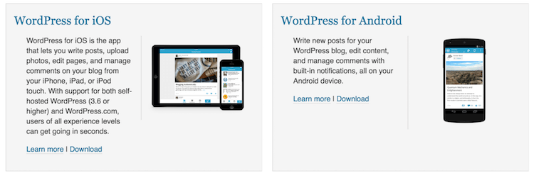 iphone app for bloggers, wordpress app