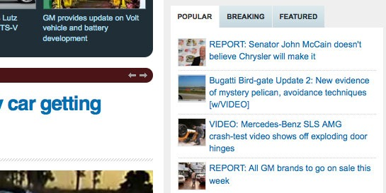 The Popular, Breaking & Featured Widget That Autoblog Uses