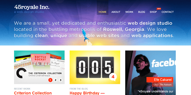 45royale Inc Blog Design