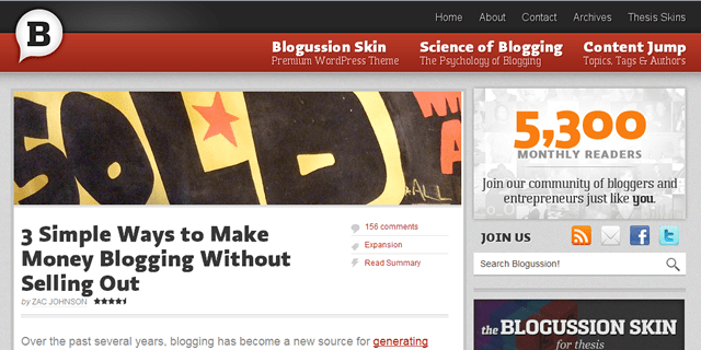 Blogussion Blog Design