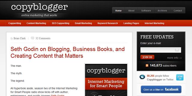 Copyblogger Blog Desing