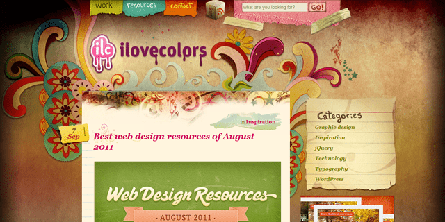 I Love Colors Blog Design