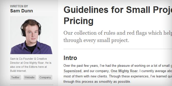 Post Author Styling BuildInternet