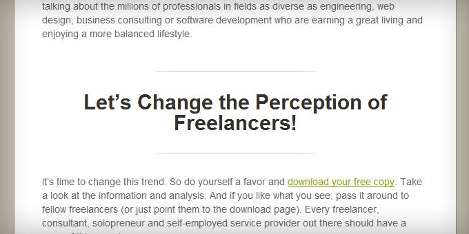 Subheaders Styling Freelance Switch