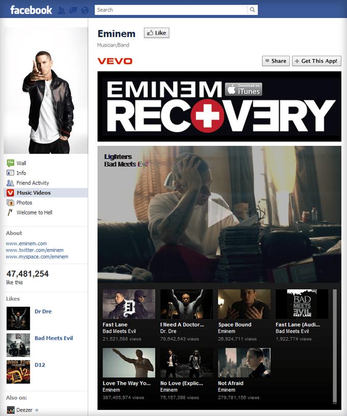 Eminem Facebook Page