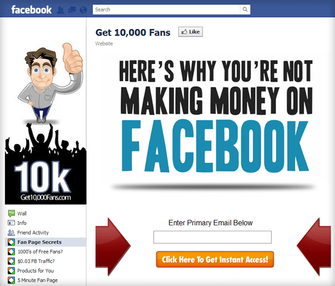 how to make money online with my facebook page