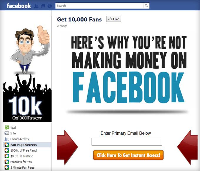 Get 10 000 Fans Facebook Page