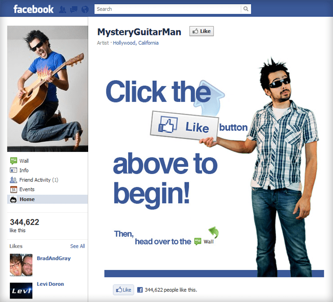 MysteryGuitarMan Facebook Page