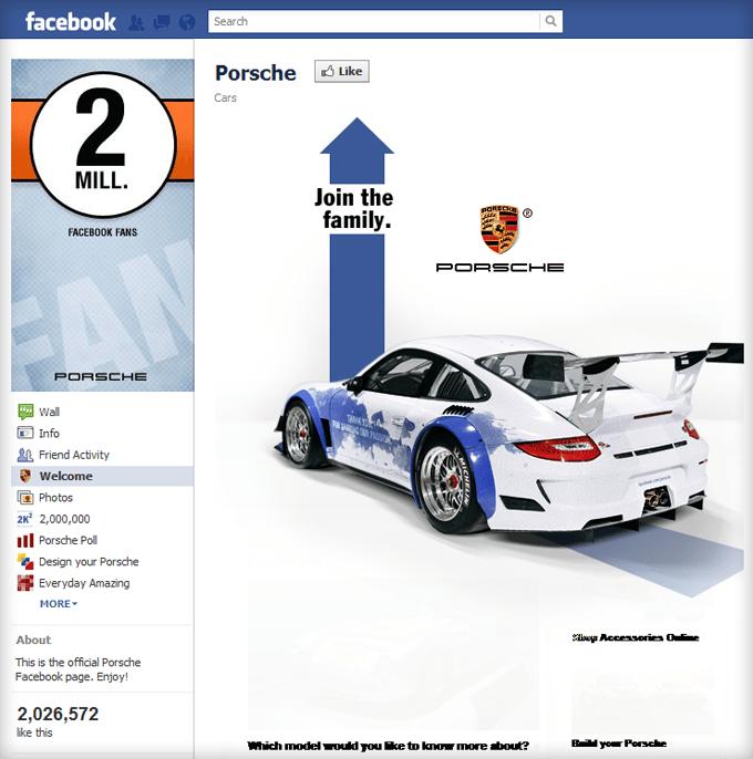 Porsche Facebook Page