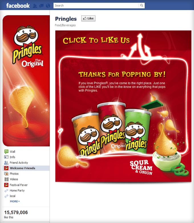 Pringles Facebook Page