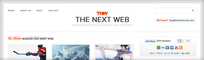 TheNextWeb Search Box