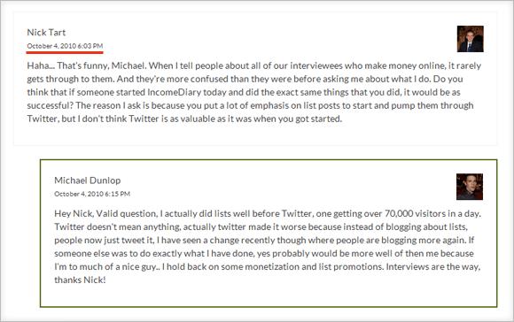Nicholas Tart Comment