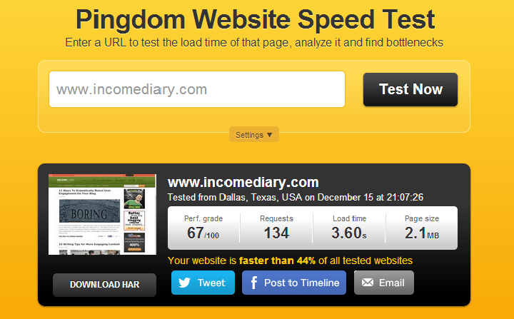 ID Speed Test