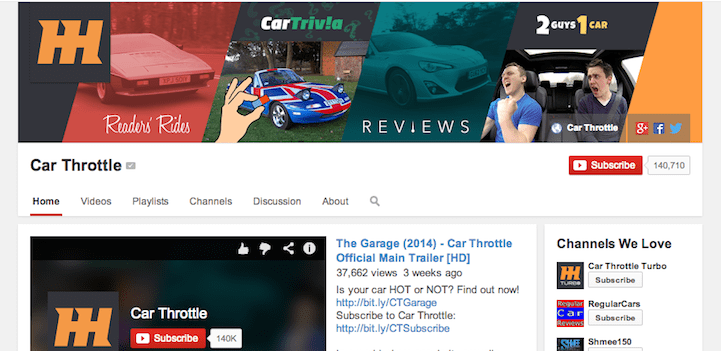CarThrottle YouTube