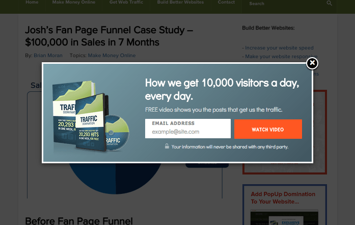 How We Get Over 64.73% Of New Email Subscribers