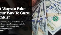 11 Ways to Fake Your Way To Guru Status!