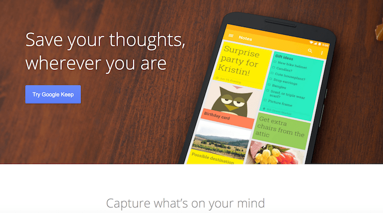 google keep app for bloggers