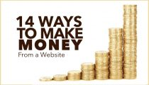 14 Ways To Actually Make Money From a Website!