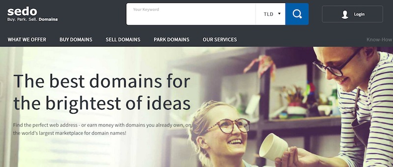 buy a premium domain name