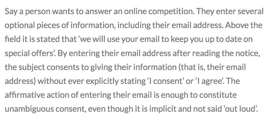 GDPR Explicit and unambiguous consent