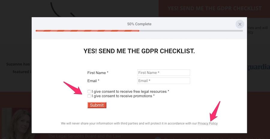 GDPR check list