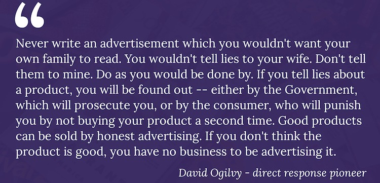 free copywriter course about advertising quote